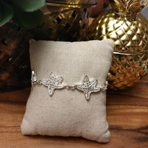 Silver plated star fish bracelet